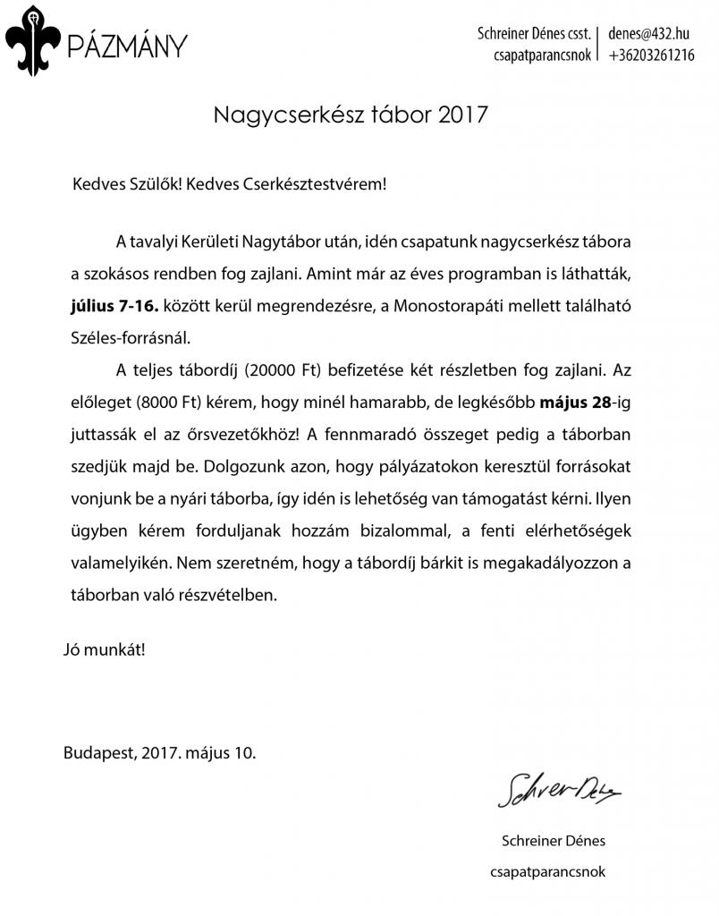 Nagytábor 2017